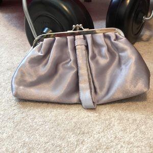 Lulu Townsend clutch, silver